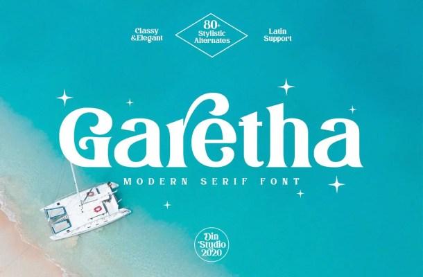 Garetha Modern Serif Font