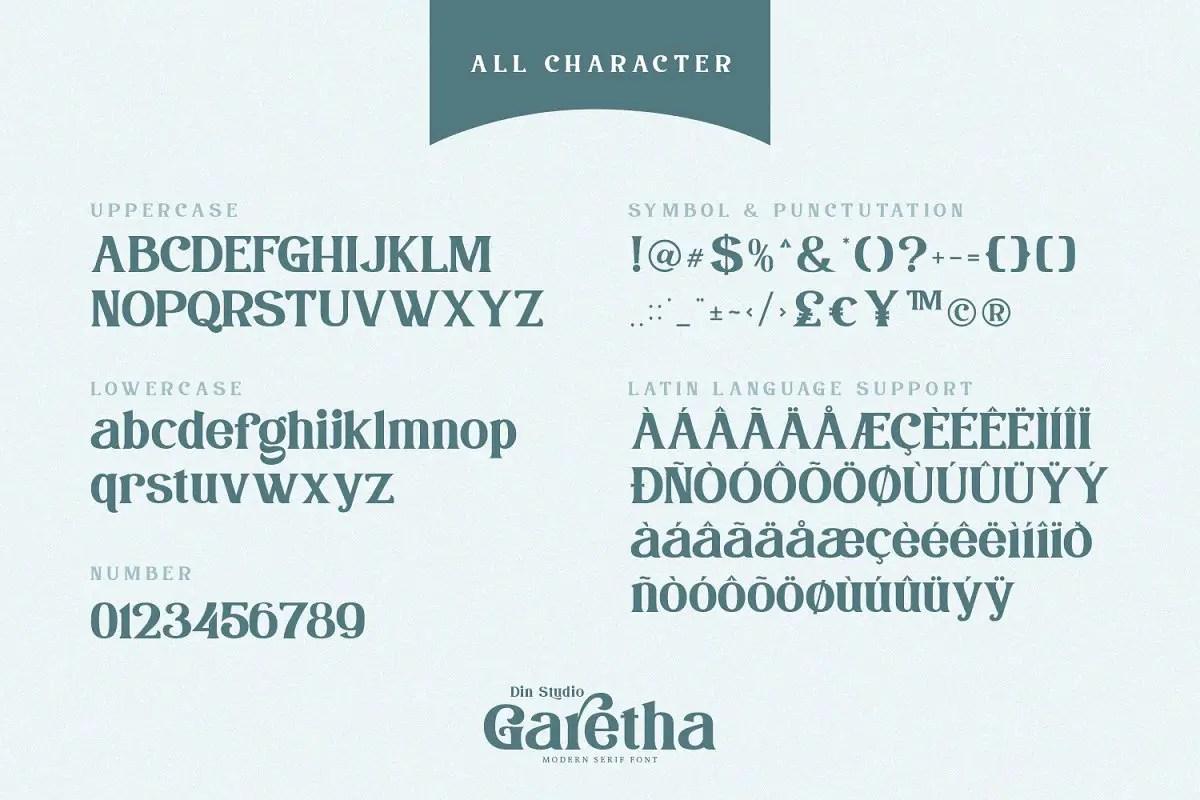 Garetha Modern Serif Font-3