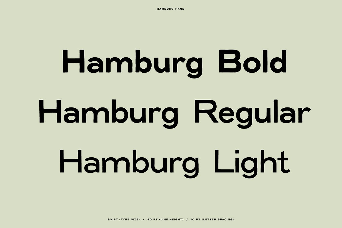 Hamburg Hand Display Font Family-2
