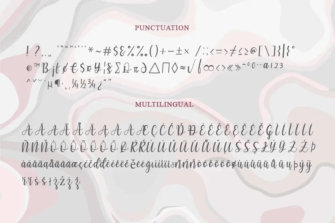 Marcella Calligraphy Script Font-3