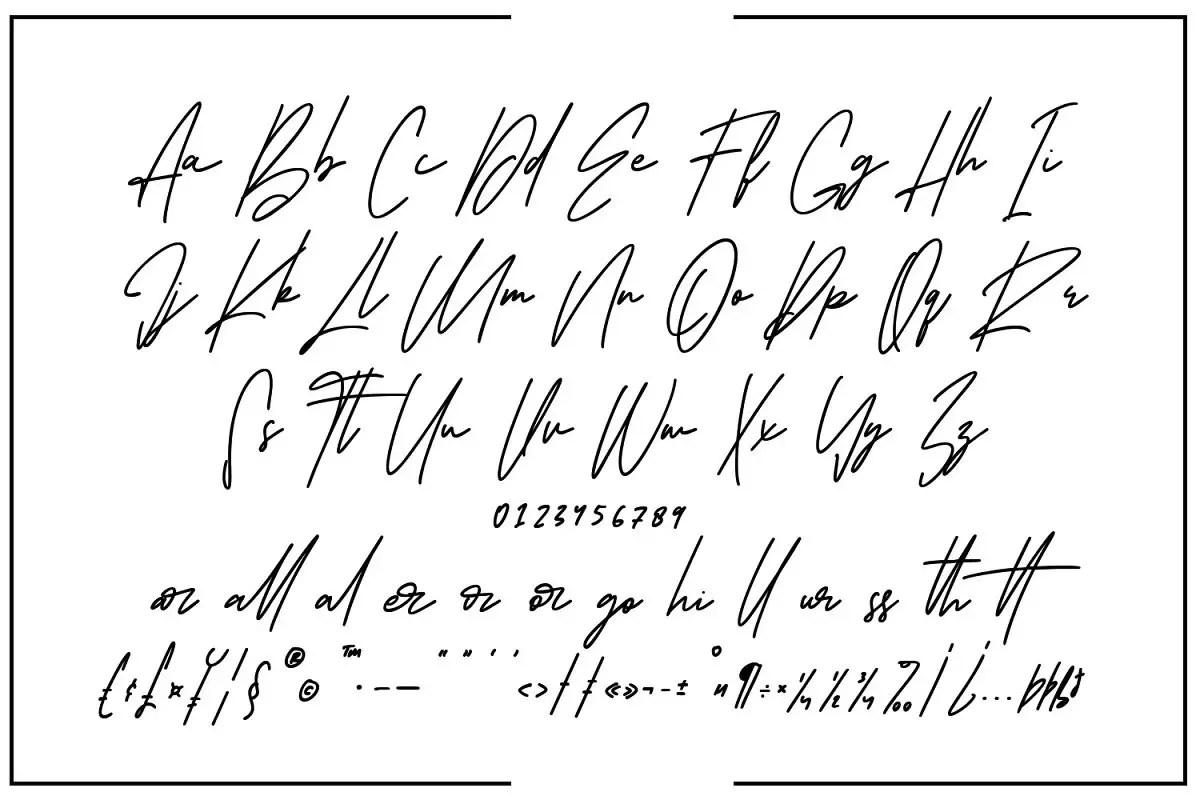 Oturllis Signature Script Font-3
