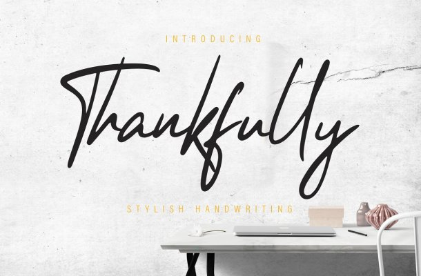Thankfully Stylish Handwritten Font