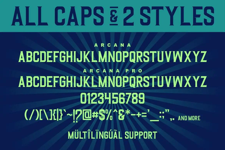 Arcana a Modern Display Typeface-3