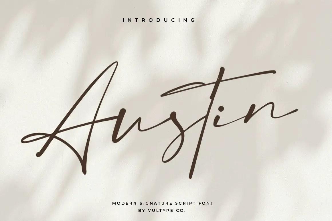 Austin Signature Elegant Font -1