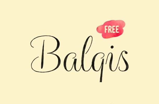 Balqis Script Calligraphy Font