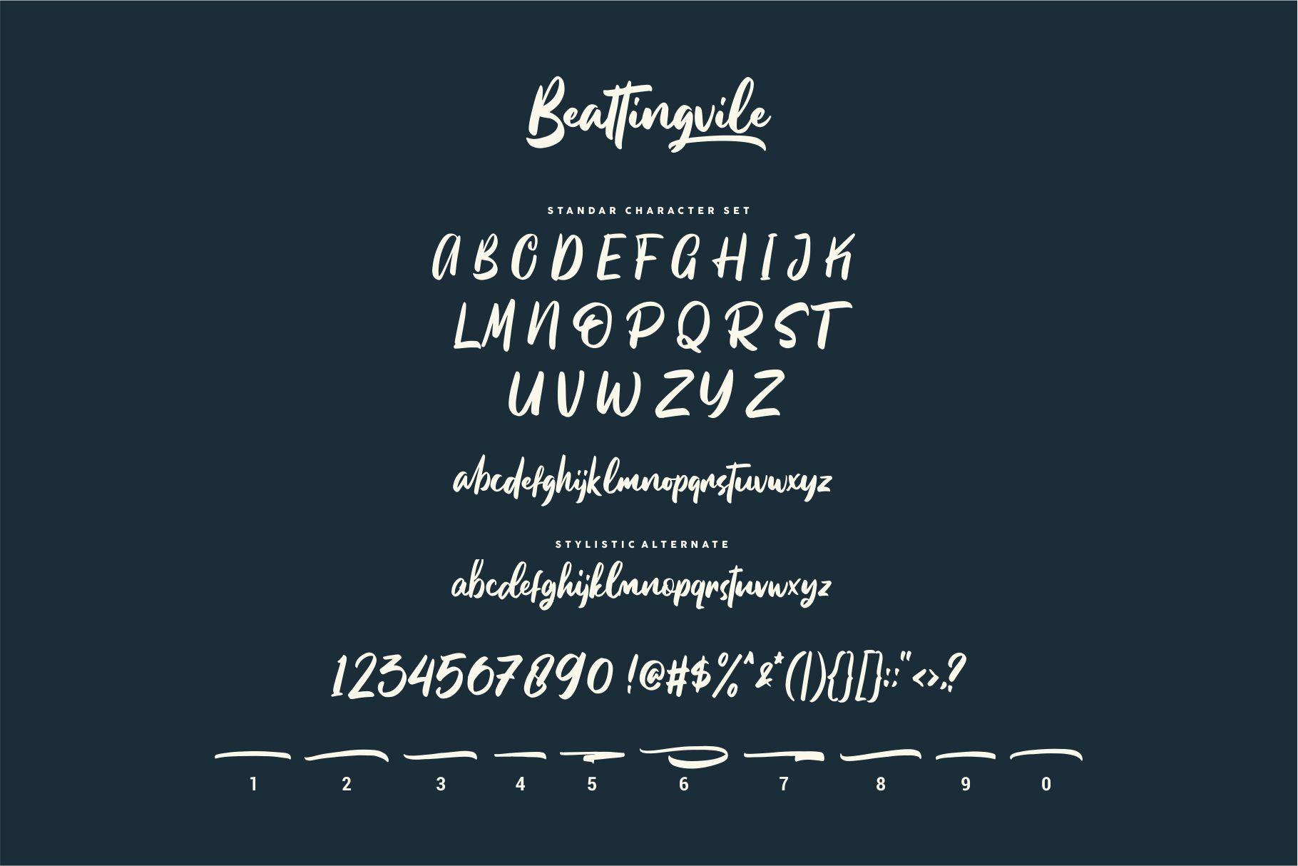 Beattingvile Brush Font-3
