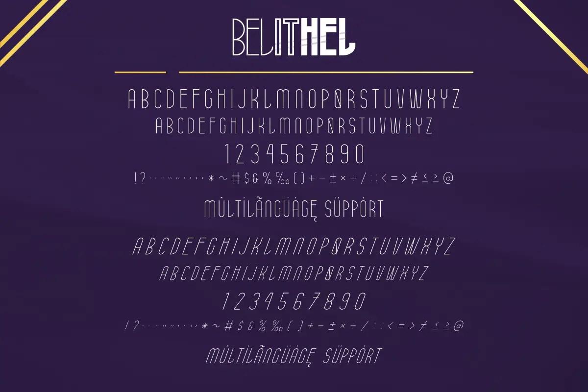 Belithel Sans Serif Font -2
