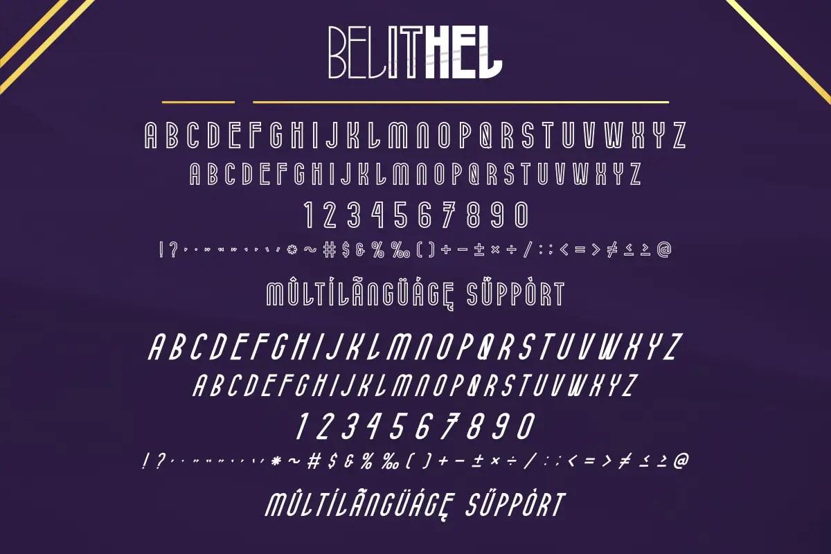 Belithel Sans Serif Font -3
