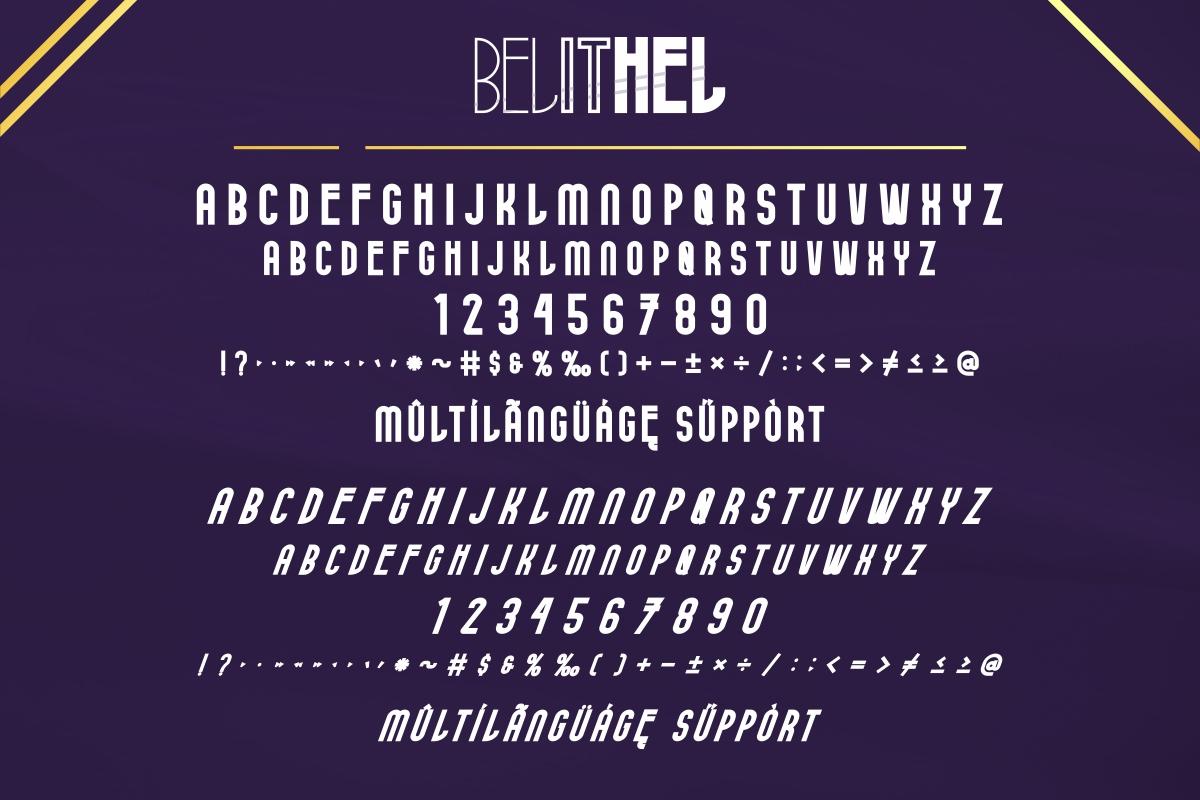 Belithel Sans Serif Font -4