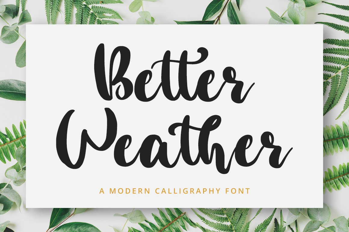 Better Weather Script Handwritten Font-1