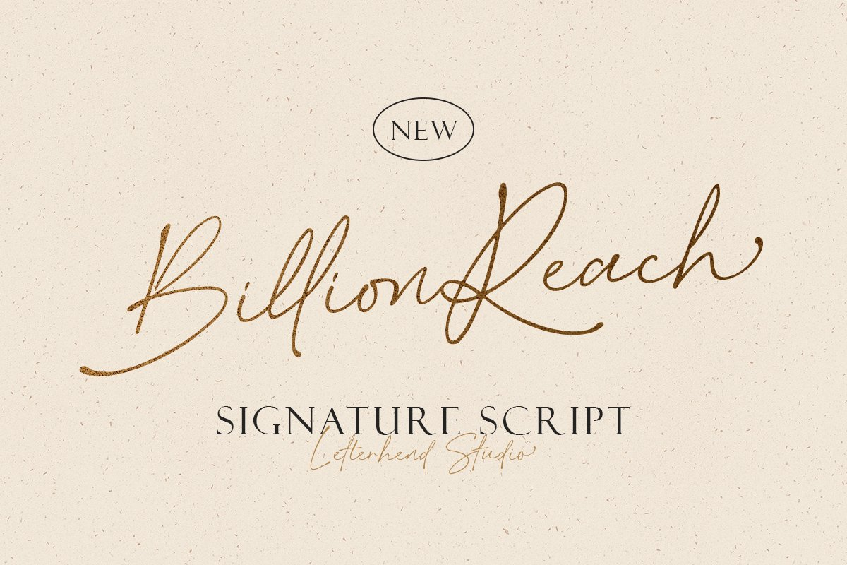 Billion Reach Signature Script Font-1