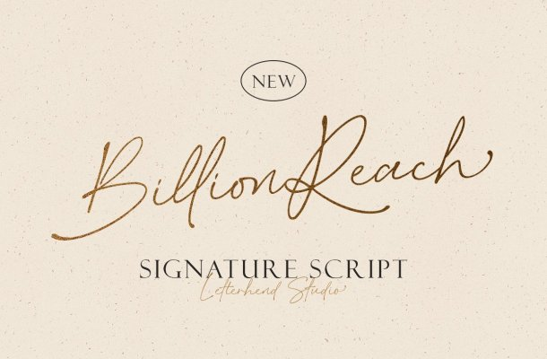 Billion Reach Signature Script Font