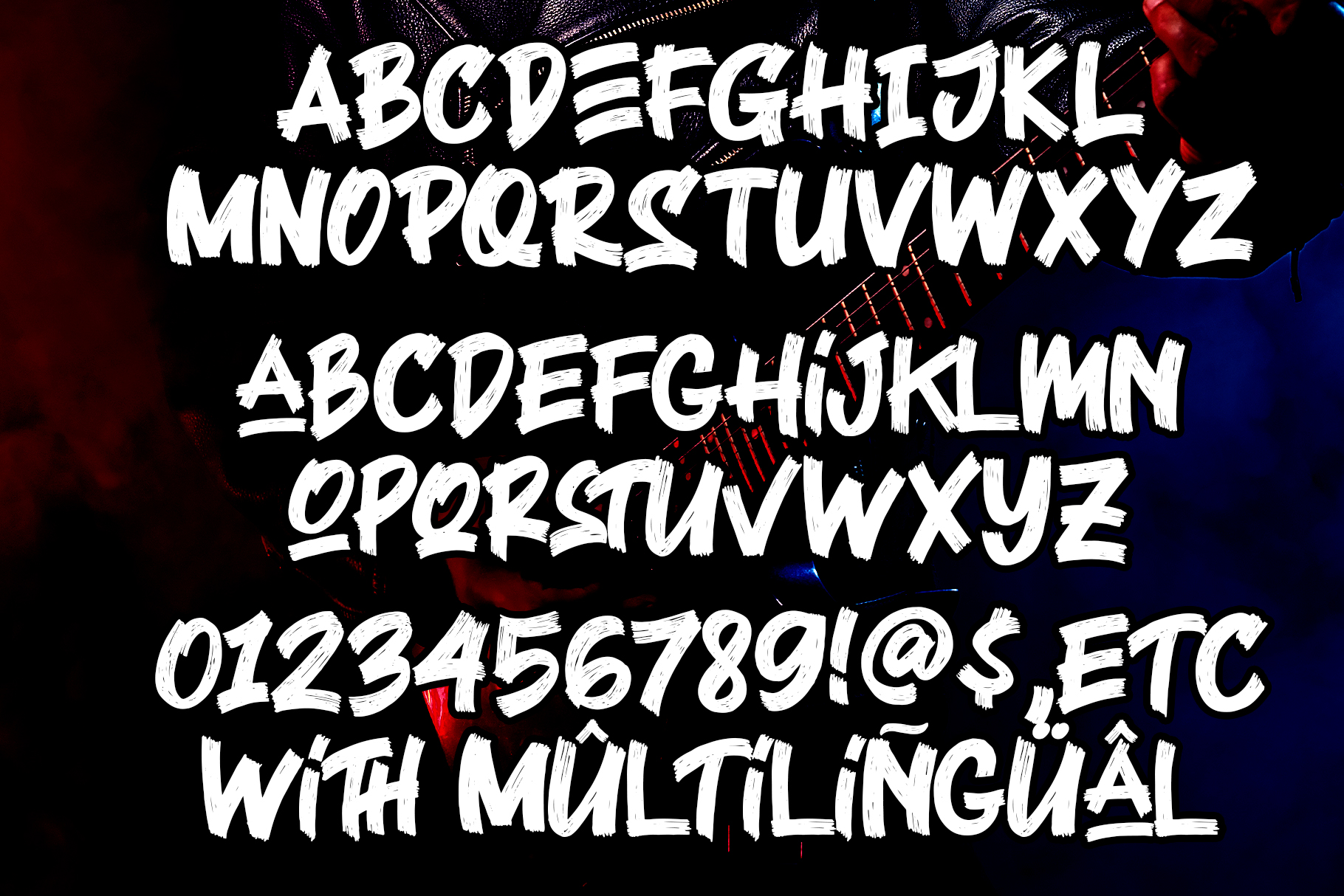 Black Rocker Brush Font-3