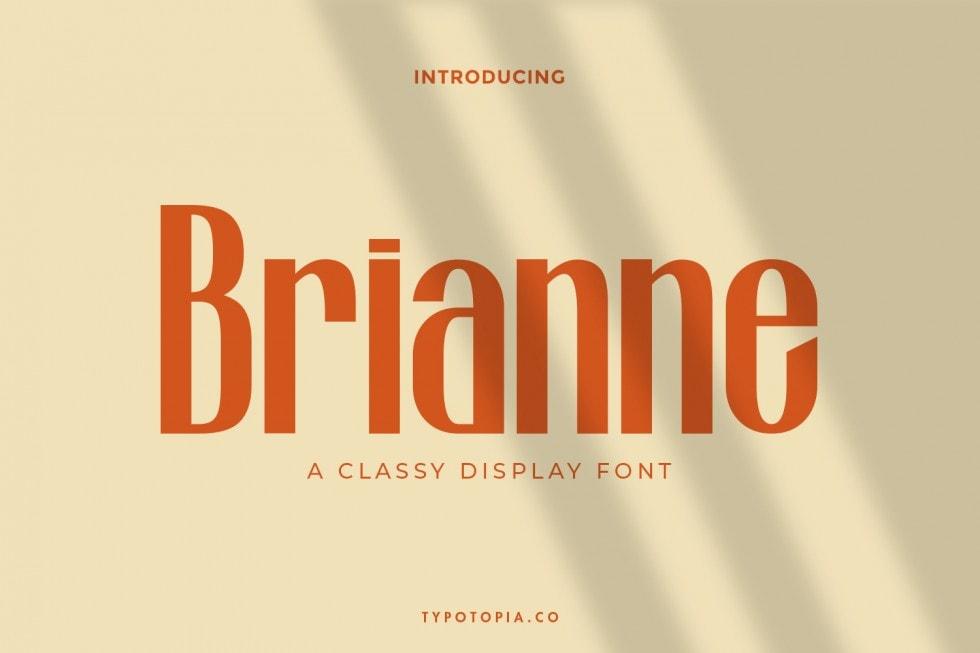 Brianne Fancy Display Font-1