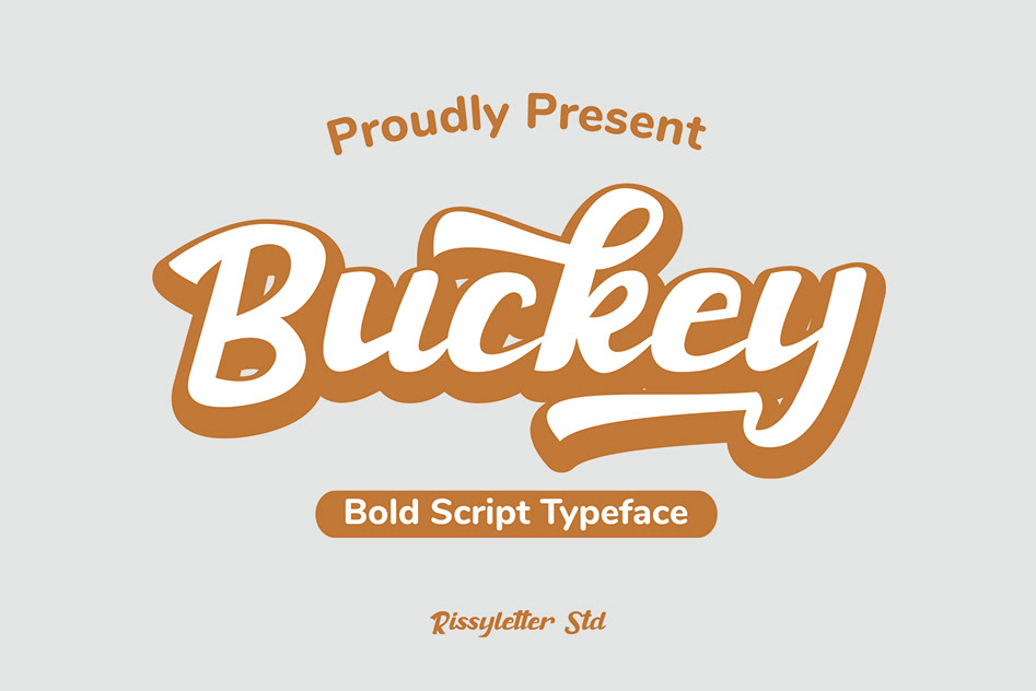 Buckey Bold Script Font-1