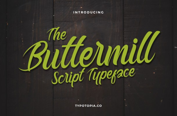 Buttermill Calligraphy Font