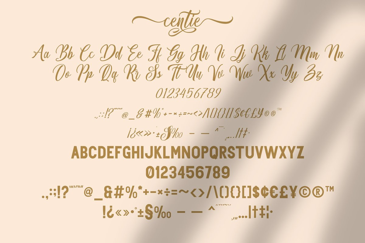 Centie Calligraphy Font Duo-3