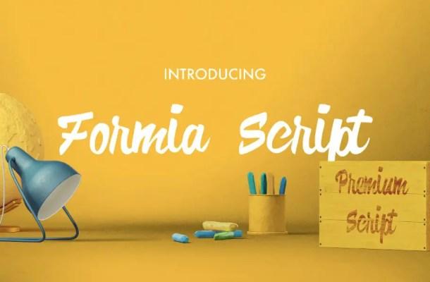Formia Script Brush Font