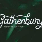 Gathenbury Handwritten Font