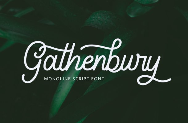 Gathenbury Handwritten Font