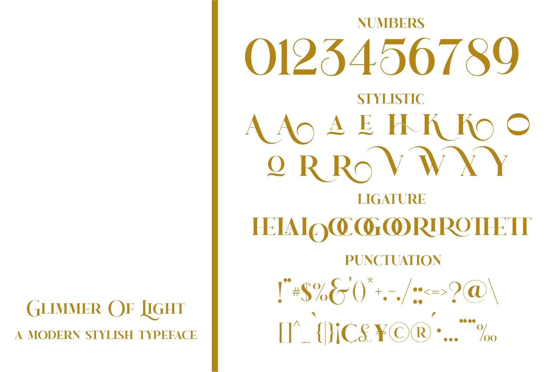 Glimmer Of Light Serif Font-3