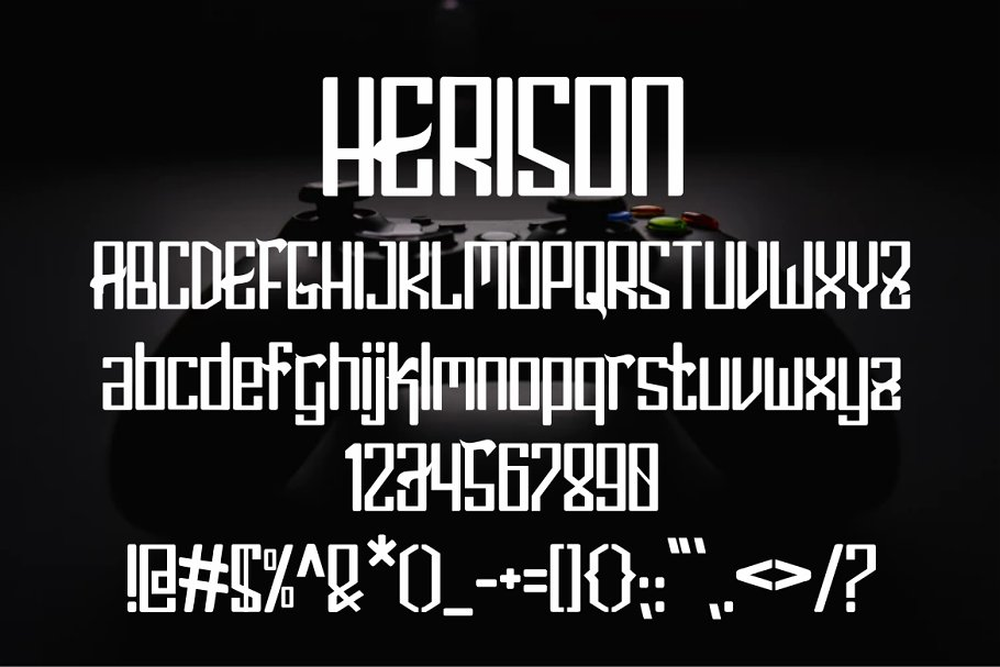 Herison Display Font-3