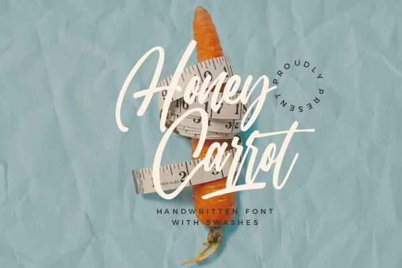 Honey Carrot Handwritten Font