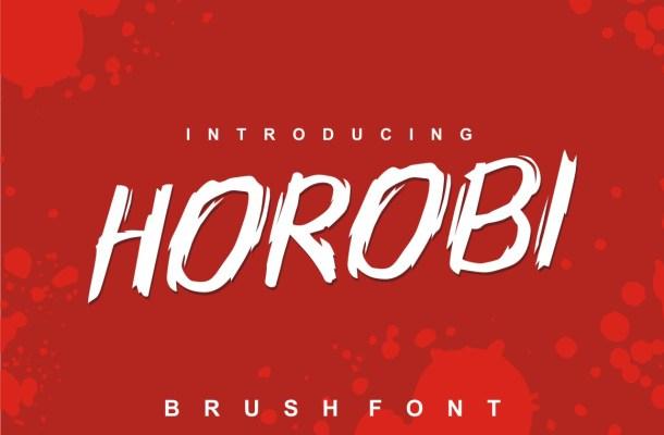 Horobi Brush Font