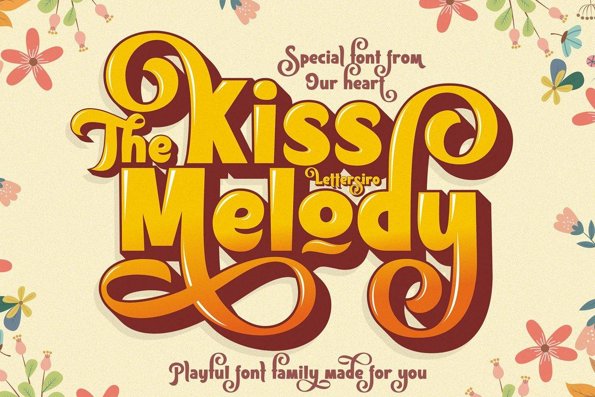Kiss Melody Display Sans Font-1