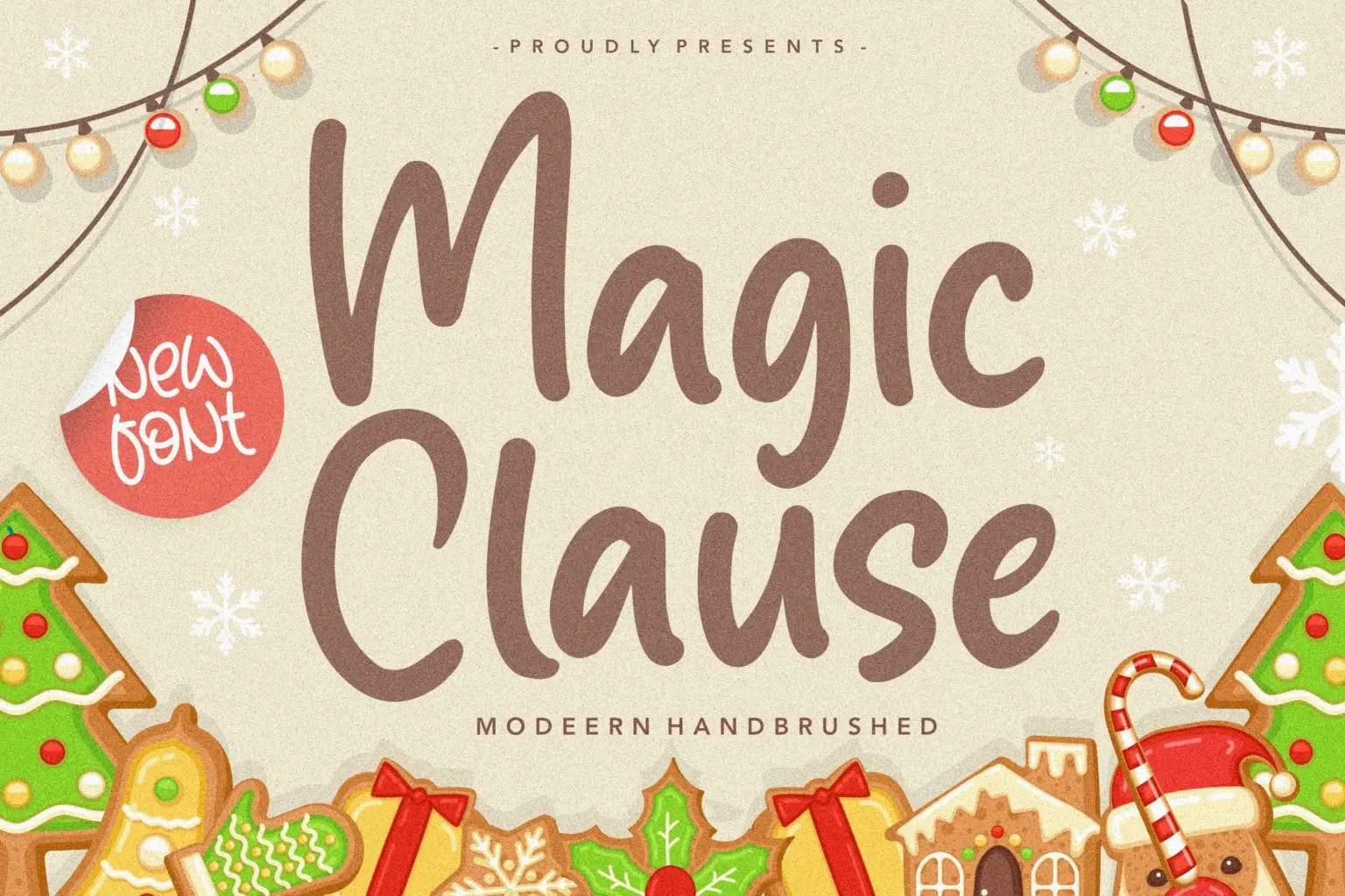 Magic Clause Modern Handbrushed Font-1