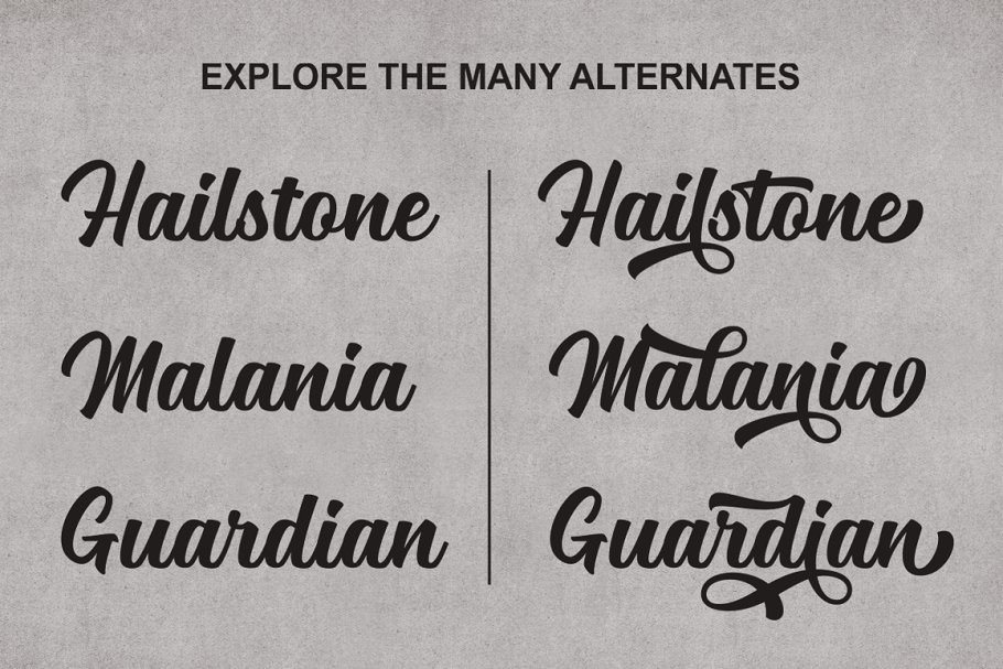 Mailston Modern Script Font-3