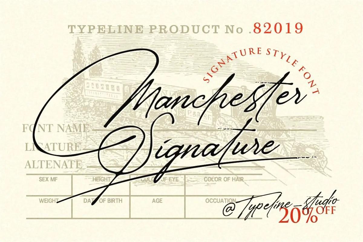 Manchester Signature Font-1