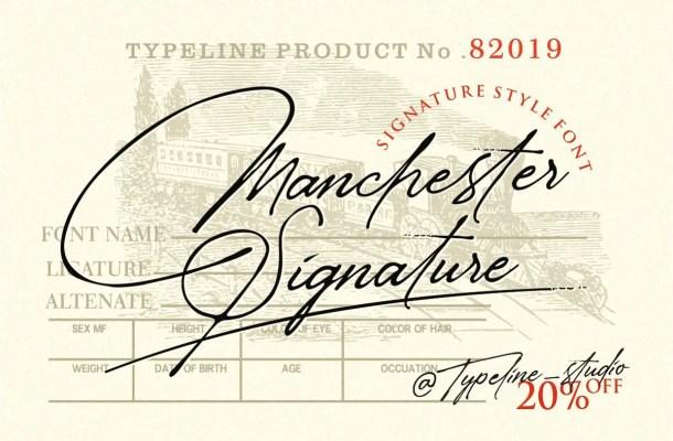 Manchester Signature Font