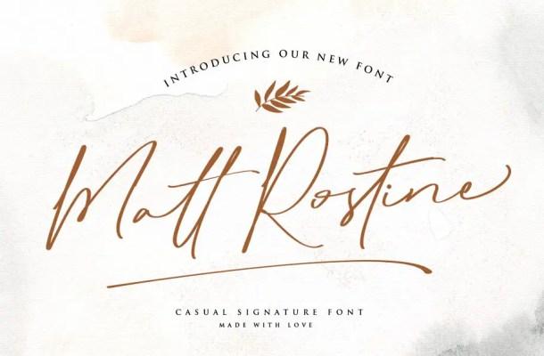 Matt Rostine Chic Signature Script Font