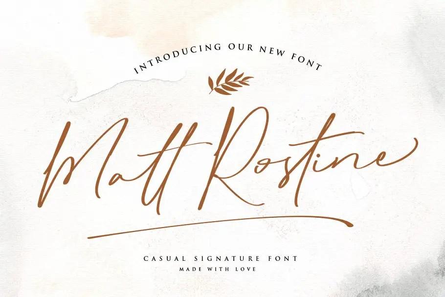Matt Rostine Chic Signature Script Font-1