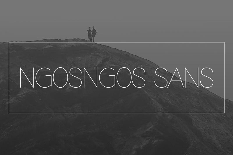 Ngosngos Sans serif Font-1