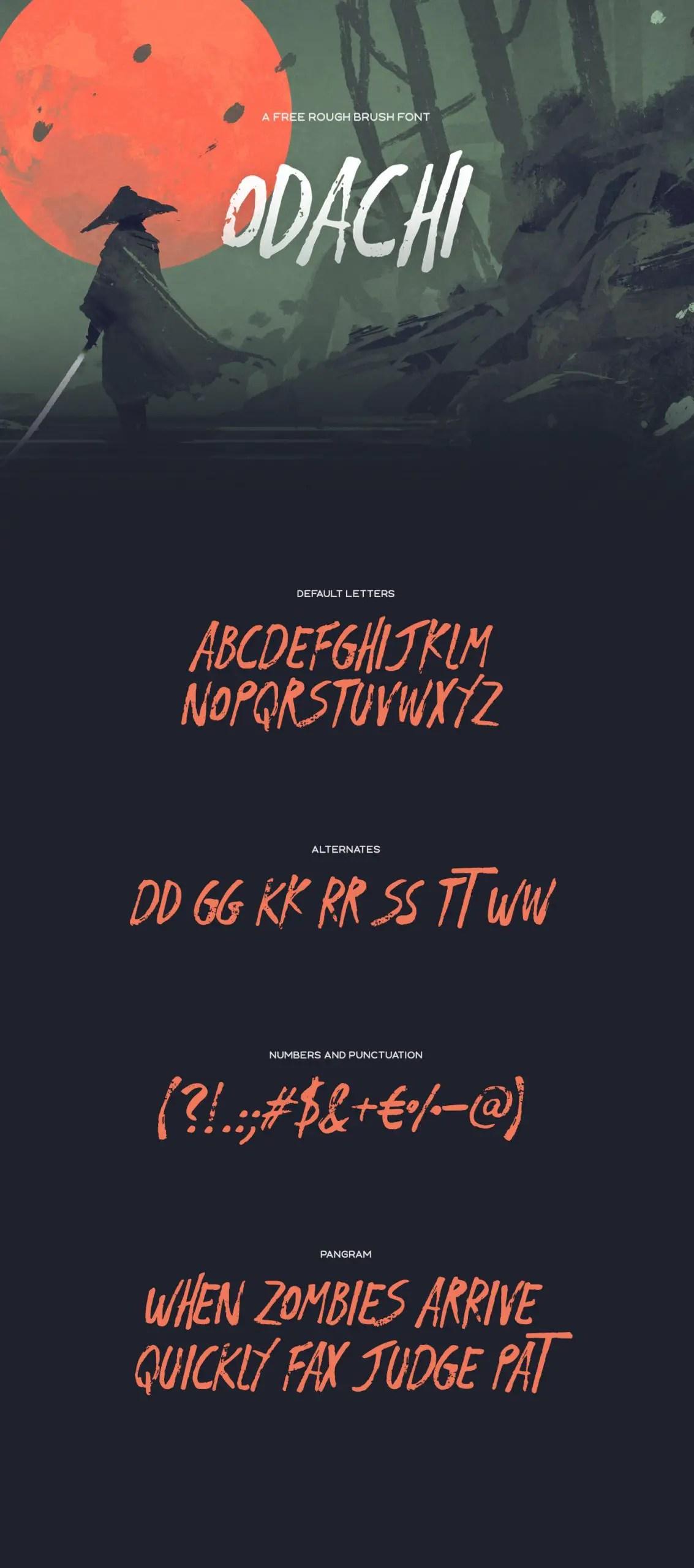 Odachi Brush Script Font -2