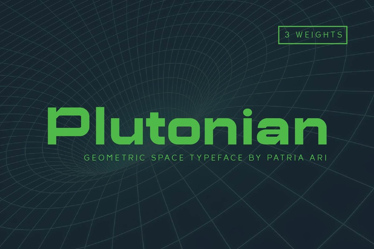 Plutonian Space Geometric Typeface-1