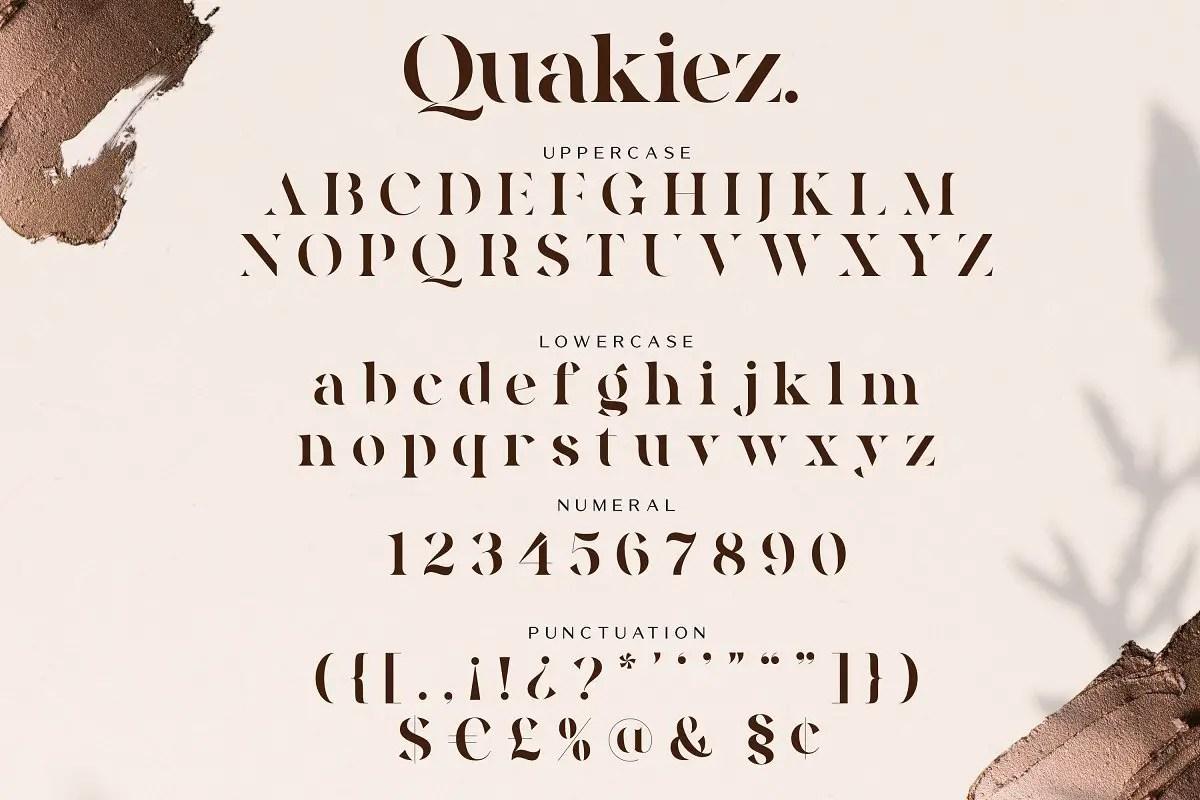 Quakiez Luxury Modern Serif Font-3