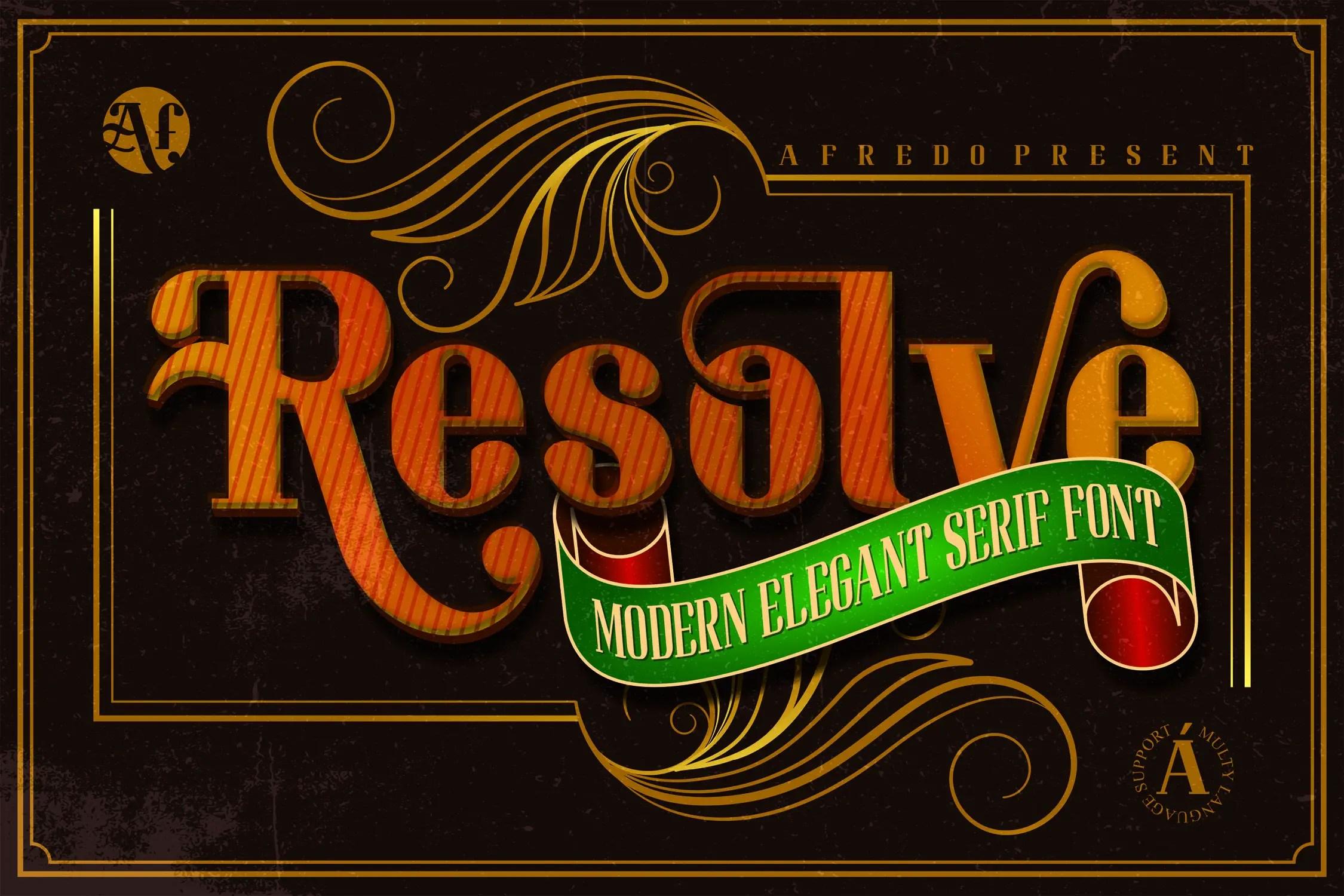 Resolve Modern Elegant Serif Font-1