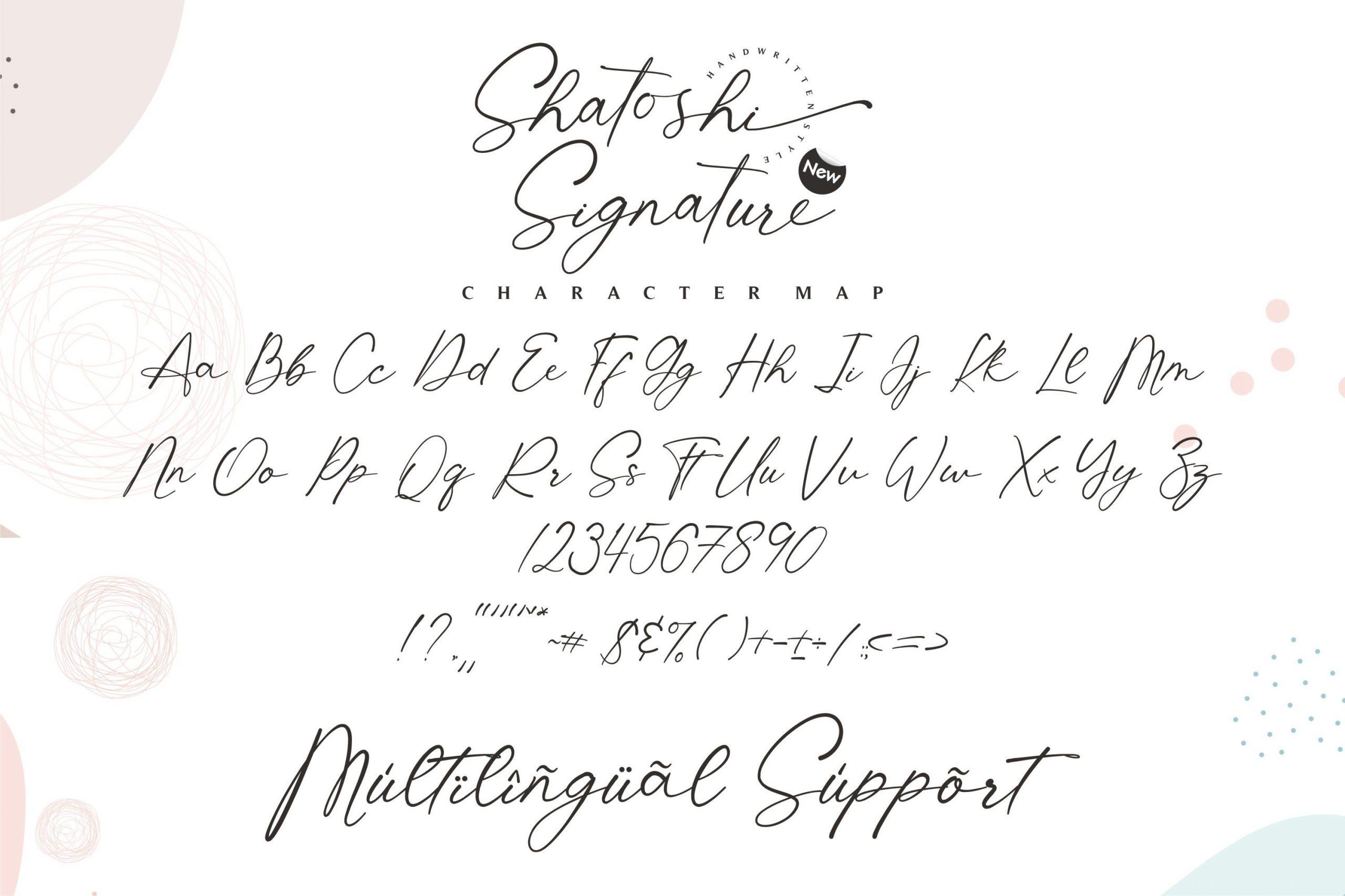 Shatoshi Signature Modern Signature Font-3