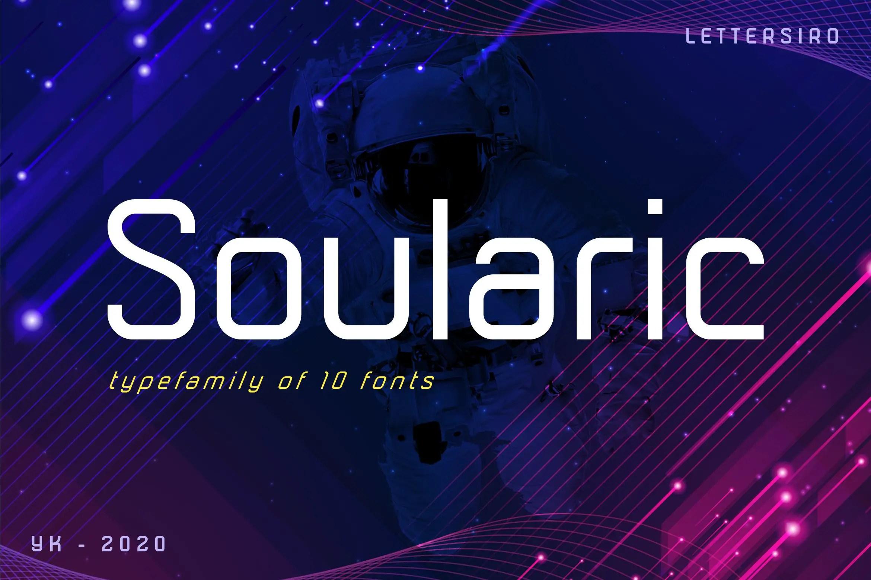 Soularic Futuristic Font Family-1