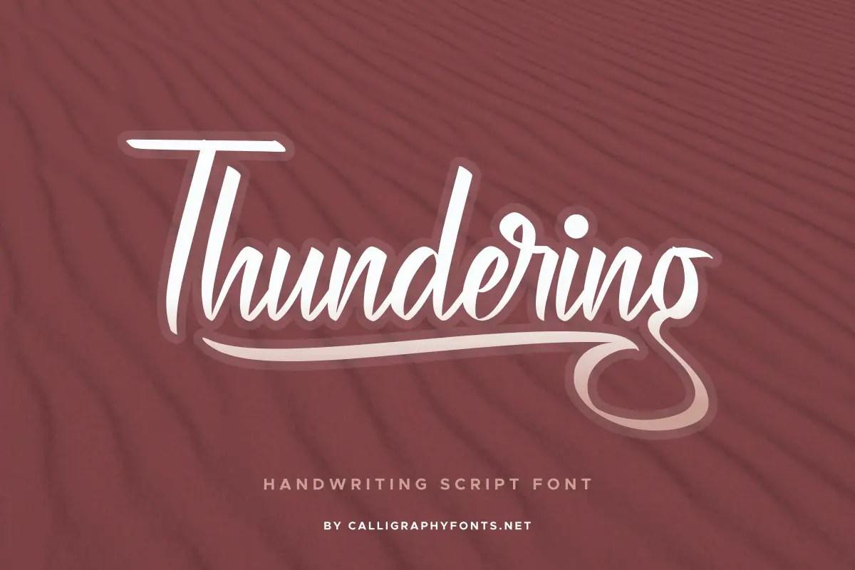 Thundering Handwritten Font-1