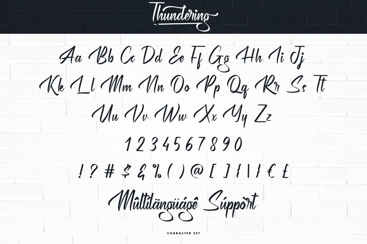 Thundering Handwritten Font-3