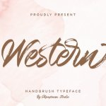 Western Hand Brush Script Typeface