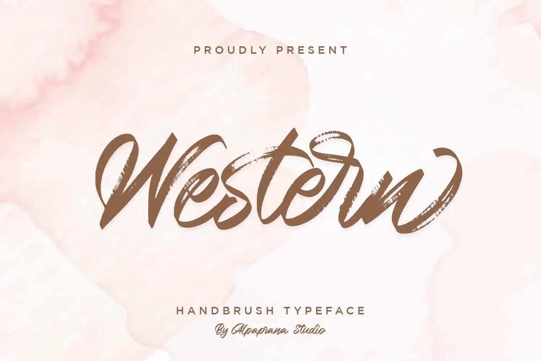 Western Hand Brush Script Typeface-1