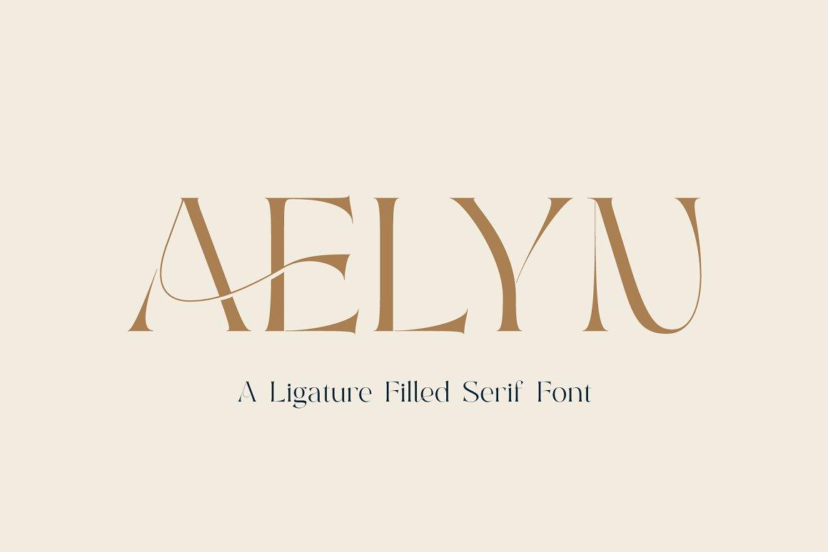 Aelyn Ligature Serif Font-1