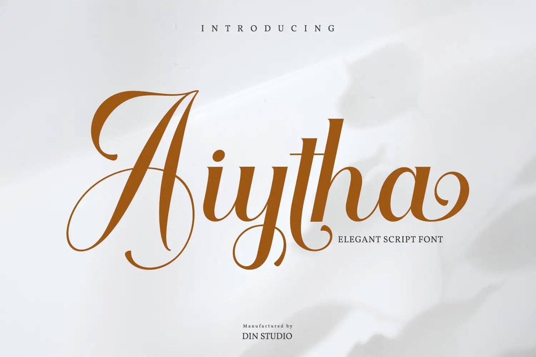 Aiytha Elegant Caligraphy Font -1