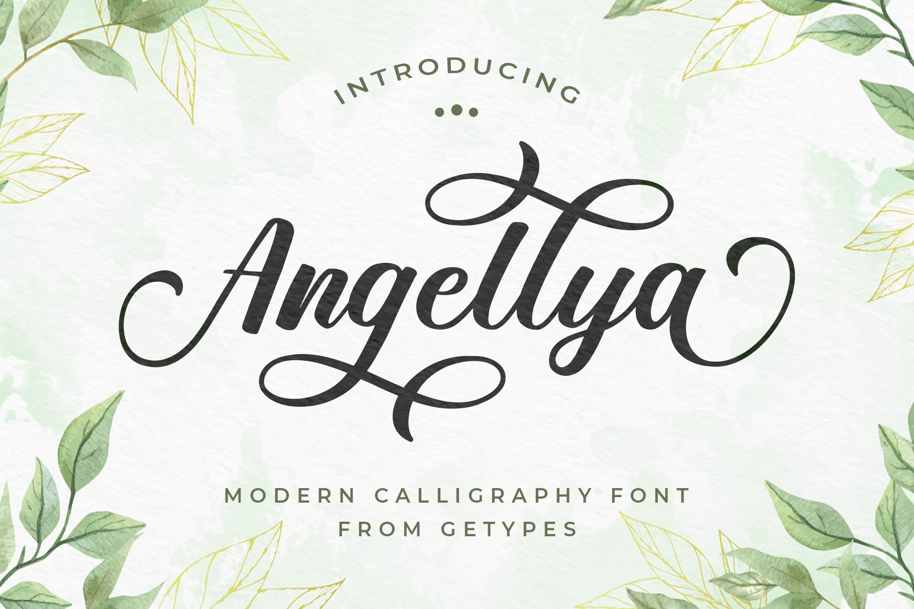 Angellya Modern Calligraphy Font -1