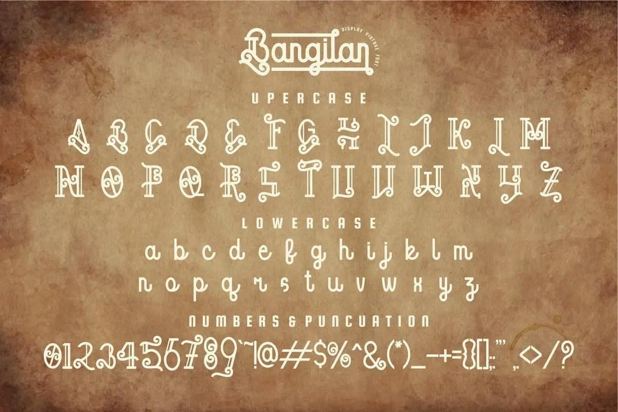 Bangilan Display Font -3